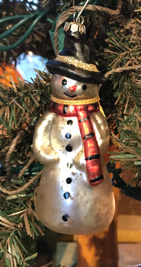 RA-X02 Glass Snowman Ornament