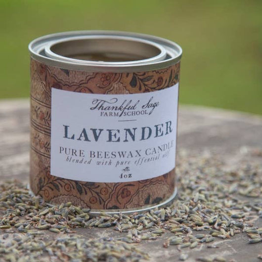 SFS-01 Lavender Pure Beeswax Can Candle