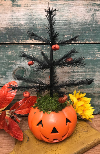 NV-4 Lg Jack-o Feather Tree with Putka Pod Ornaments