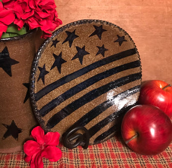 CC-2013 Pottery Stars & Stripes Plate