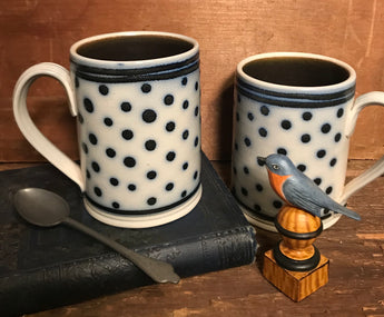 SJP-2063 Dots Stoneware Mug - Set of 2