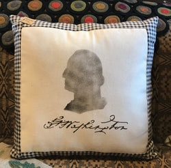 EC-GWP George Washington Stenciled Pillow