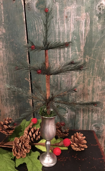 NV-FT16B Feather Tree in Antique Pewter Chalice