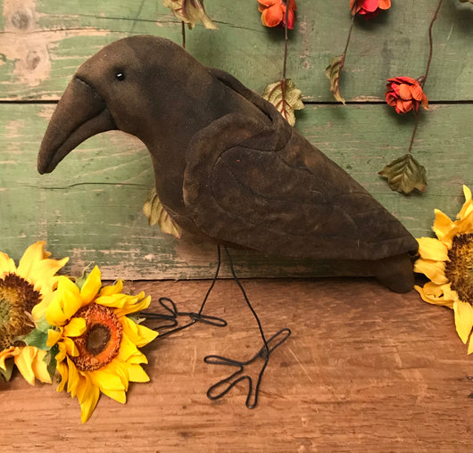 NV-26 Fabric Crow with Wire Legs