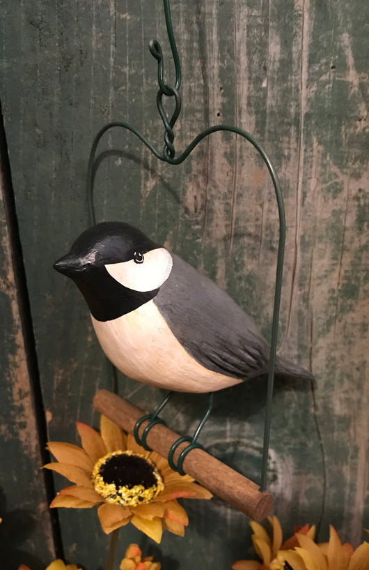 WW-HB-CH Hanging Resin Chickadee