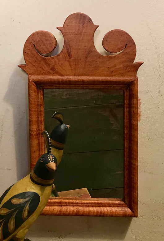 DMC-10 Small Hand-grained Wood Mirror