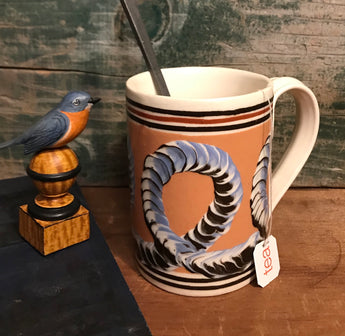 SJP-2042 Mochaware Mug - Salmon with Worming