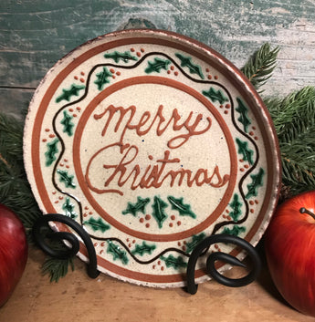 DTS-X23 Merry Christmas Redware Plate