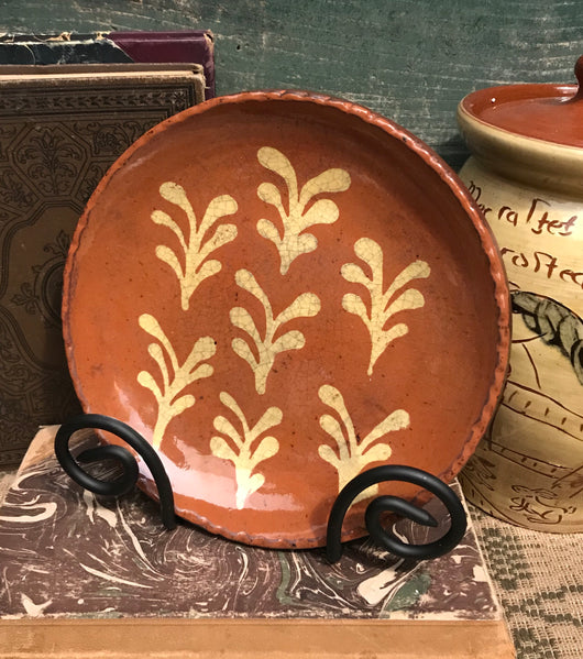 DTS-1920 Seven Ferns Redware Plate