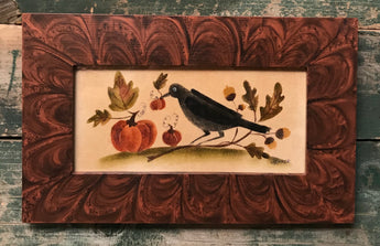 CB-009 Crow with Pumpkins & Oak Leaves Theorem