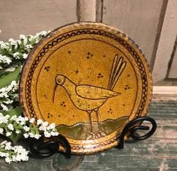 GMS-21 Shooner Redware Shore Bird Small Plate