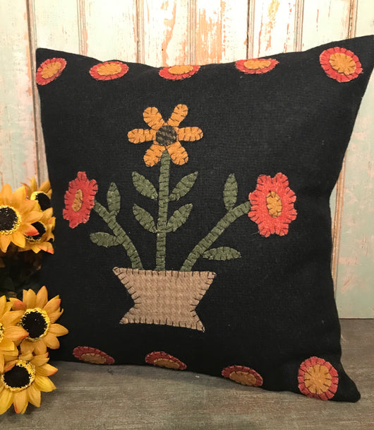 RG-FB Flowers in Bloom Felt Pillow