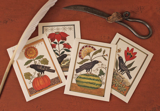 TH-01 Seasonal Crow Cards - Set of 4