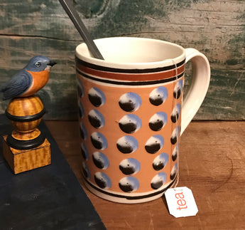 SJP-2038 Mochaware Mug - Salmon with Dots