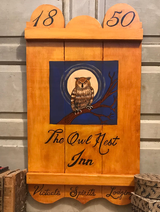 KH-1977 The Owl Nest Inn Tavern Sign