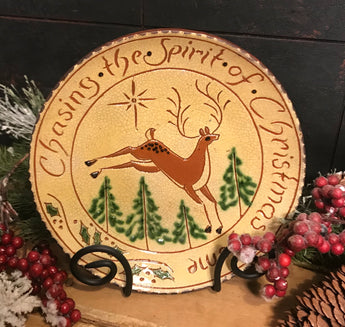 DTS-X27 Spirit of... Reindeer Redware Plate