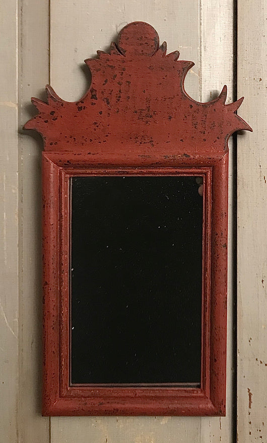 DMC-18 Small Red Wood Mirror