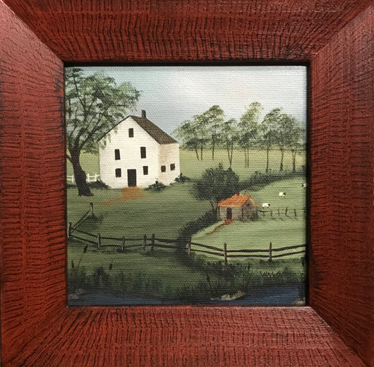 SN-14 White House & Barn Framed Print