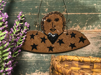 CC-2004 Pottery Angel Hanging Plaque