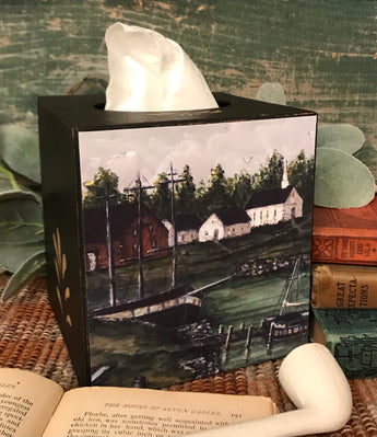 MKM-1913 Seaside Village Tissue Cover