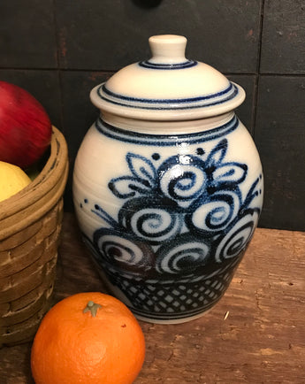 SJP-2026 Fruit Stoneware Lidded Jar