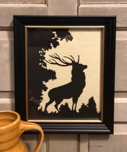 MB-SS Stag Framed Silhouette