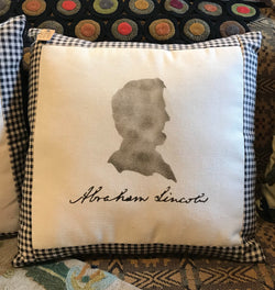 EC-ALP Abe Lincoln Stenciled Pillow
