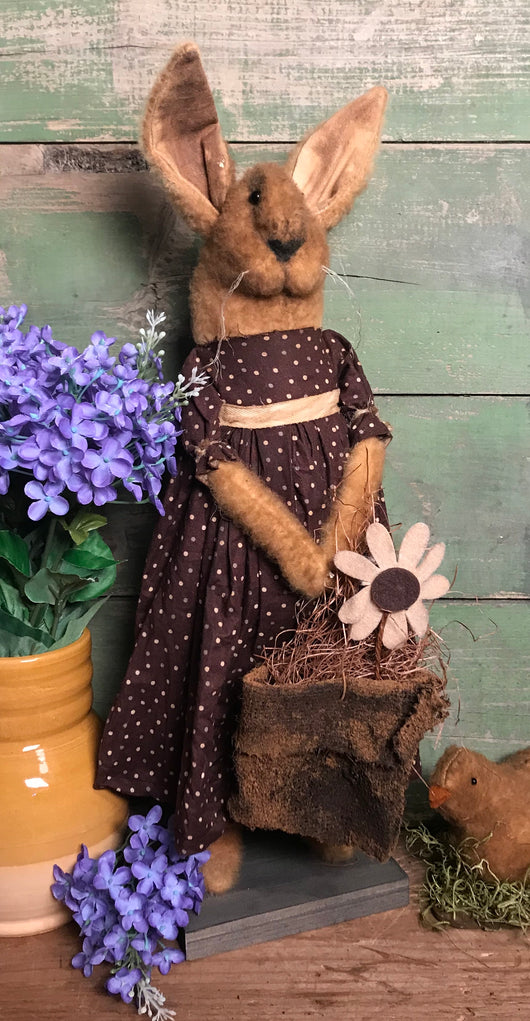RC-2000 Gold Girl Bunny in Brown Dress with Basket