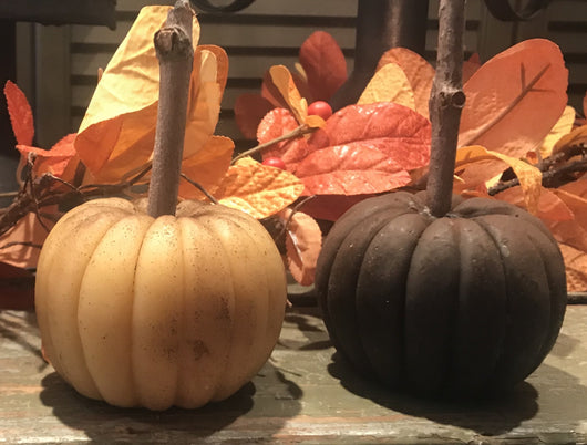 BB-SWP Small Wax Pumpkin with Stem