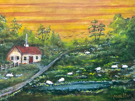 MKM-04 Sunrise over Hilltop Farm ORIGINAL Painting