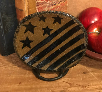 CC-2009 Oval Pottery Stars & Stripes Plate