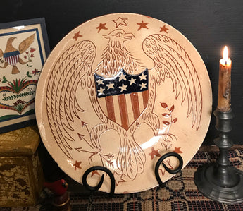 DTS-2007 Patriotic Eagle Redware Plate