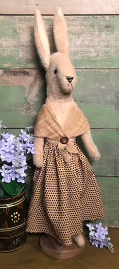 PO-2012 Tall Bunny in Brown Dress