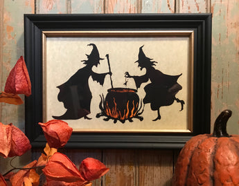 MB-F4 Witches Brew Framed Silhouette