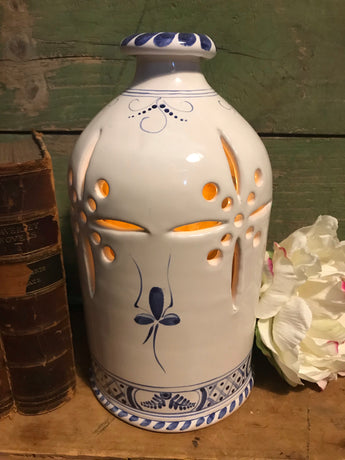 SE-24 Pottery Luminary with Delft Design