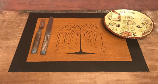 MH-PM-WT Willow Tree Canvas Placemat