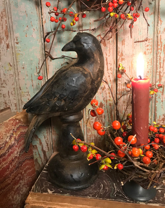 RJ-WBP2 Wax Coated Bird on Pedestal with Turned Head