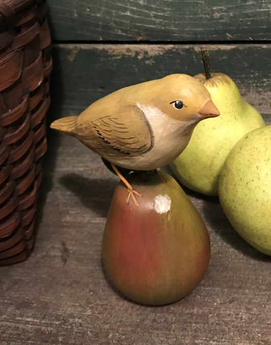 WW-74 Yellow Bird on Pear