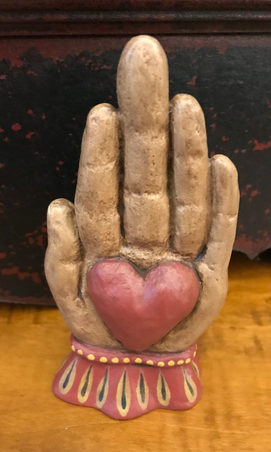 WW-HH1 Resin Heart in Hand
