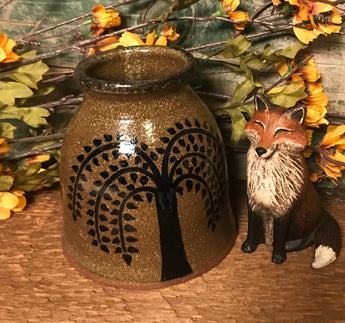 CC-2017 Pottery Willow Canning Crock
