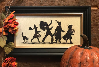 MB-F1 Halloween Parade Framed Silhouette