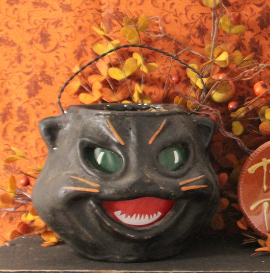 RA-014 Black Cat Head Candy Container