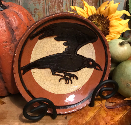 DTS-F10 Crow Redware Plate