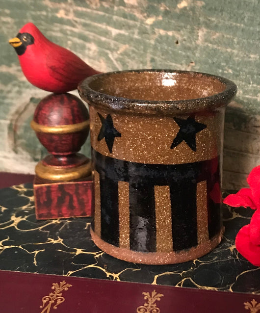 CC-2003 Mini Pottery Crock with Stars & Stripes