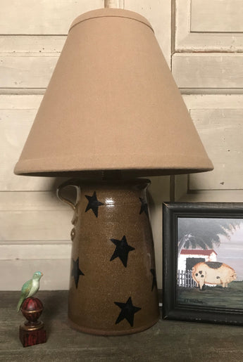 CC-SL Pottery Star Lamp with Shade