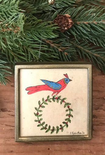 ER-2121B Original Bird with Wreath Token of Affection