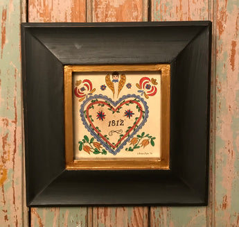 ER-2202 Framed 1812 Heart Fraktur
