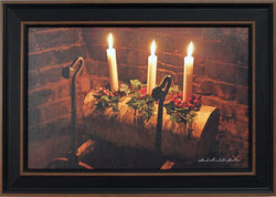 NV-FP3 Framed Log & Three Candles Print