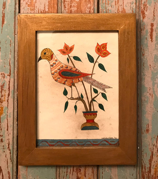ER-2217 Framed Bird Fraktur