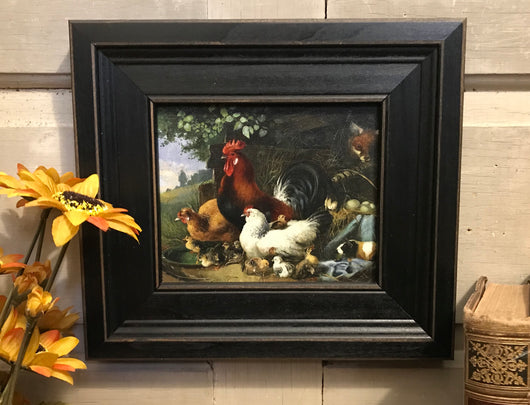 MB-0307-4 Fox in Hen House Framed Canvas
